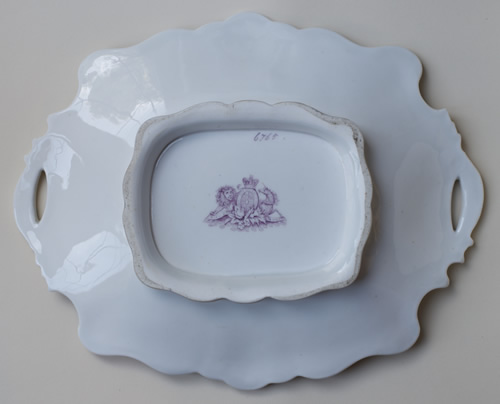 Pattern 6765 rectangular dessert dish back