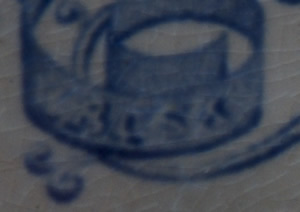 Pattern 767 dessert centre piece detail of backstamp