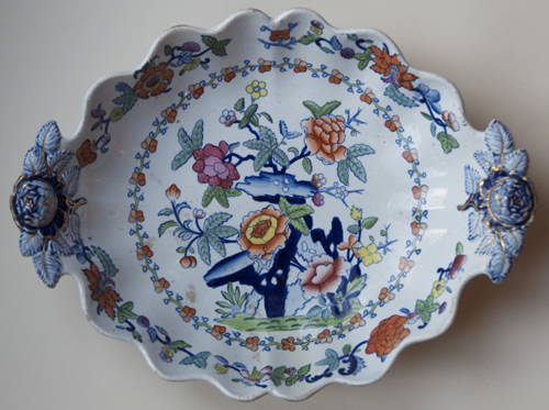 Pattern 767 oval dessert dish front