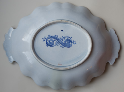 Pattern 767 oval dessert dish back