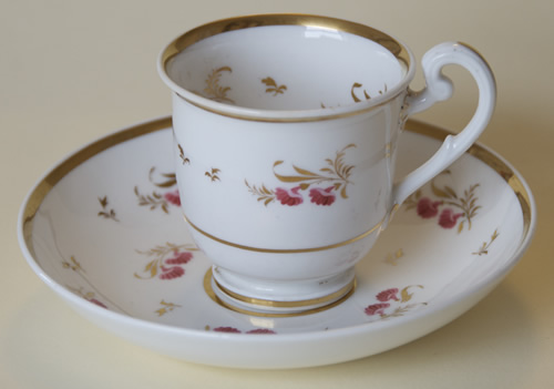 Pattern 2/784 coffee cup and saucer