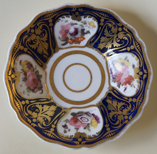 Pattern 2/1043 saucer front