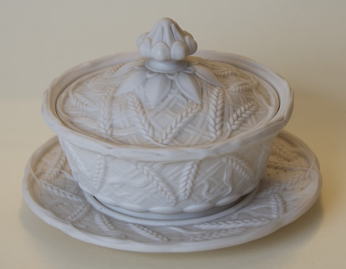 John Barleycorn covered butter dish and stand