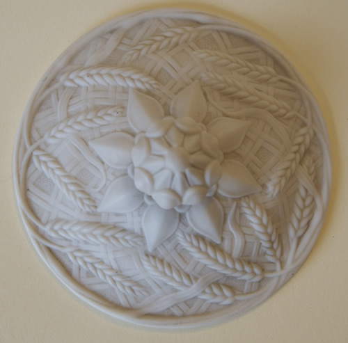 John Barleycorn covered butter dish lid top