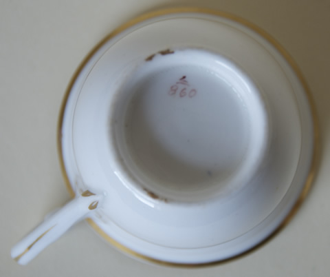 Pattern 2/860 coffee cup base
