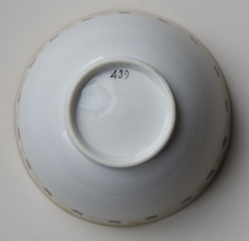 Pattern 439 cup back