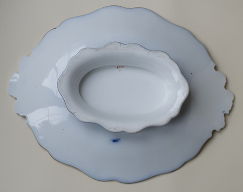 Pattern 8758 oval dessert dish back