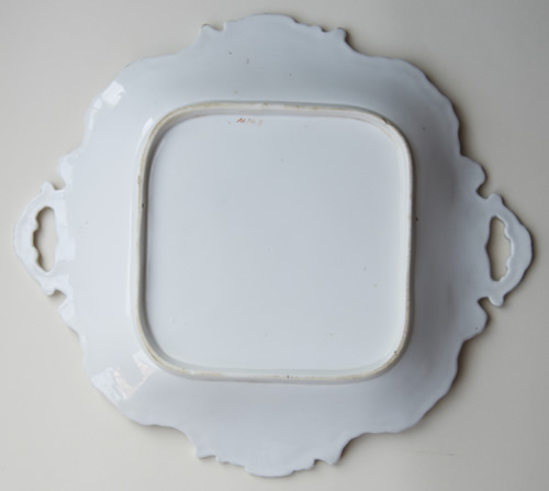 Pattern 1474 square dessert dish back