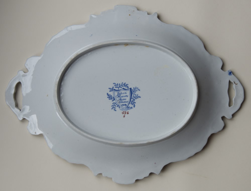 Pattern 1249 oval dessert dish back