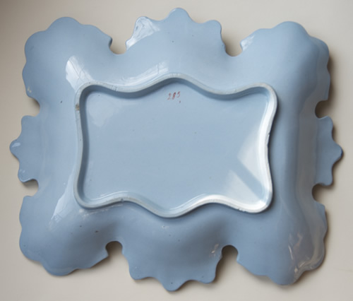 Pattern 285 rectangular dessert dish back