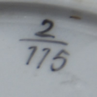 Pattern 2/115 saucer pattern number