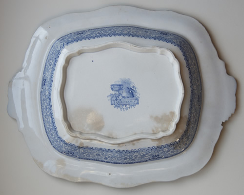 Grecian covered vegetable dish base
