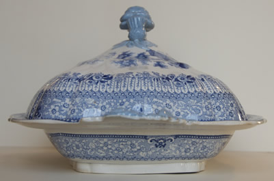 Grecian covered vegetable dish end