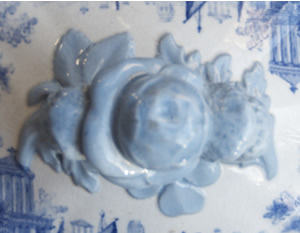 Grecian covered vegetable dish lid knob top