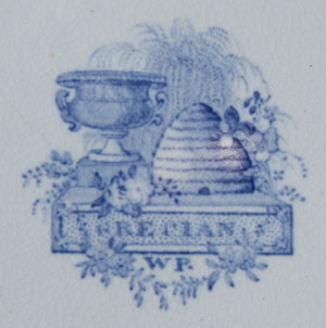 Grecian covered vegetable dish backstamp