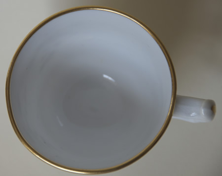 Pattern 2/405 saucer coffee cup top
