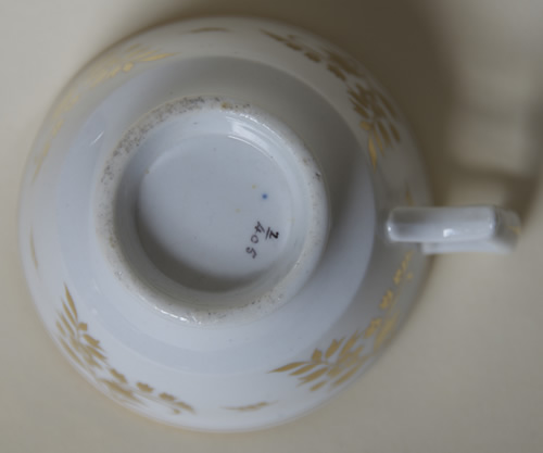 Pattern 2/405 saucer tea cup base