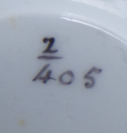Pattern 2/405 saucer tea cup pattern number