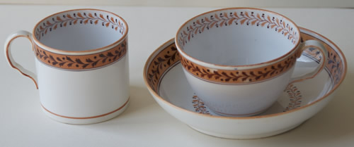 Pattern 2/1 saucer cup and can
