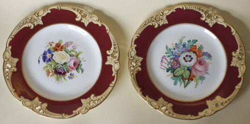 Pattern 91 pair of dessert plates front