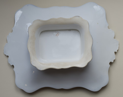 Pattern 6/918 rectangular dessert dish back
