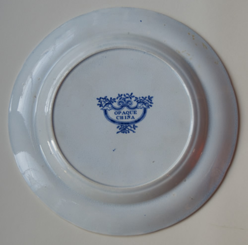 Bird and Wyverns dessert plate back