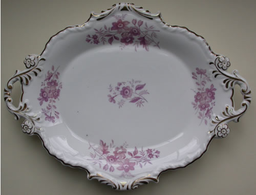 Pattern 1982 oval dessert dish front