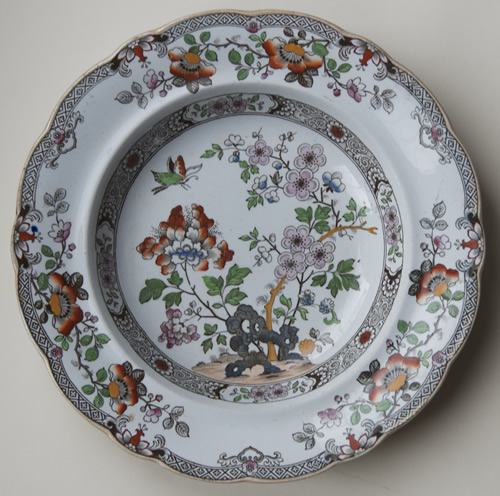 Pattern 207 small soup plate front