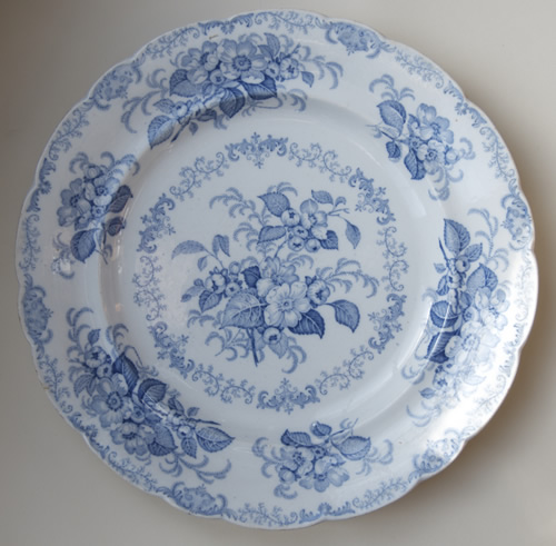 Apple Blossom dinner plate front