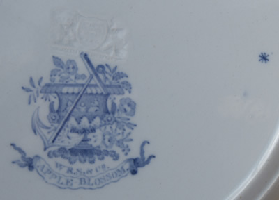 Apple Blossom dinner plate back marks