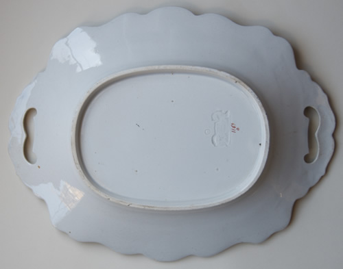 Pattern 1169 oval dessert dish back