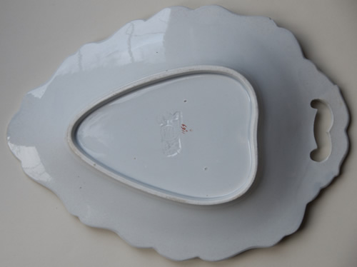 Pattern 1169 leaf dessert dish back