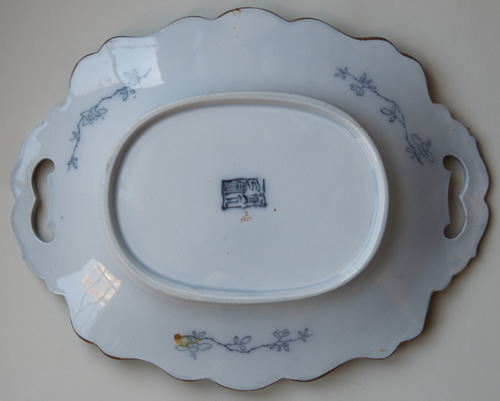 Pattern 3/1321 oval dessert dish back