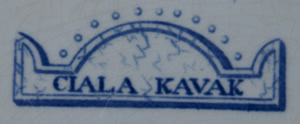 Ciala Kavak dessert plate backstamp