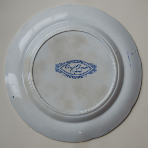Christ Church dinner plate back