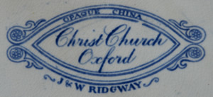 Christ Church dinner plate backstamp