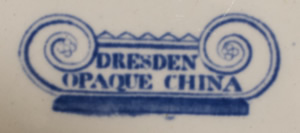 Dresden Opaque China shell dessert dish pattern number