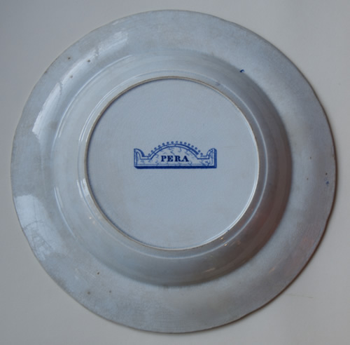 Pera soup plate back