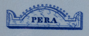 Pera soup plate backstamp