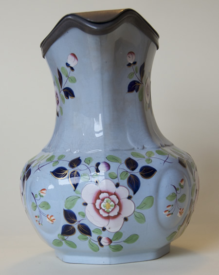 Pattern 33 jug with Britannia Metal lid middle side