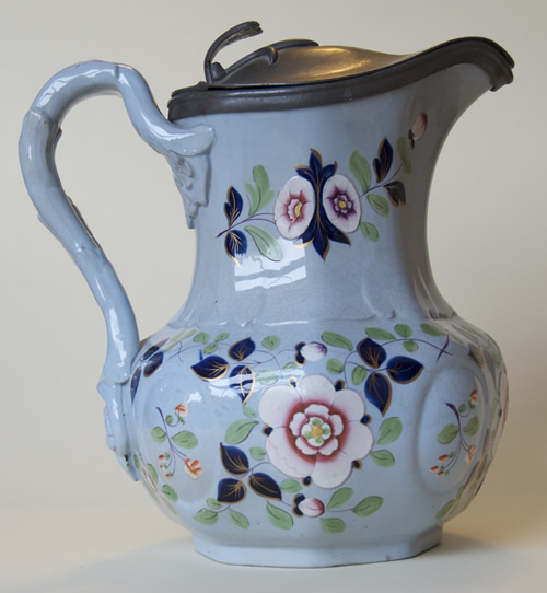 Pattern 33 jug with Britannia Metal lid right side