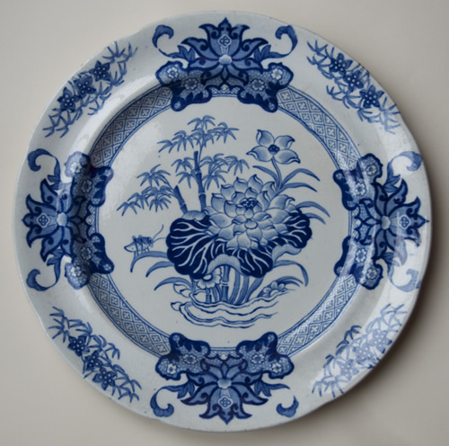Bamboo Opaque China dinner plate front