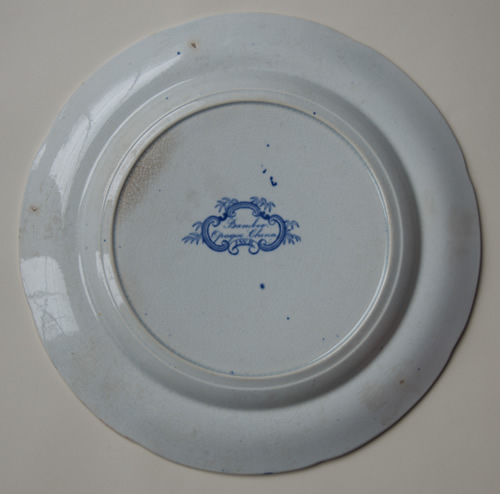 Bamboo Opaque China dinner plate back
