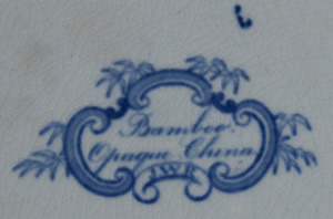 Bamboo Opaque China dinner plate backstamp