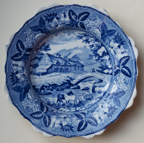 Riverside Cottages dessert plate front