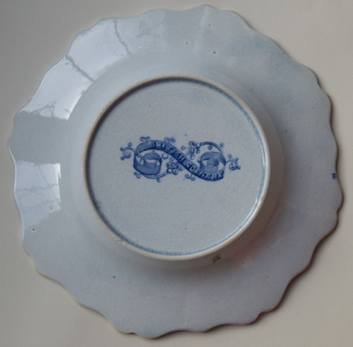 Riverside Cottages dessert plate back