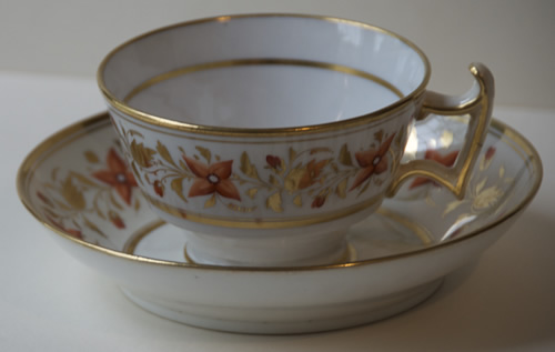 Pattern 2/676 tea cup and saucer