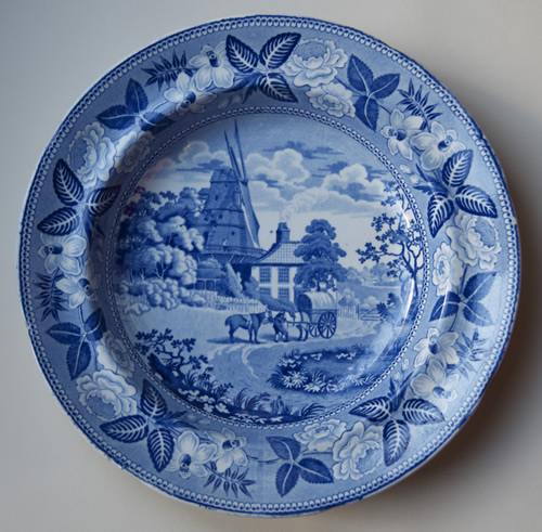 British Scenery soup plate front
