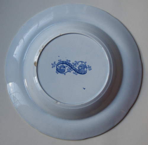 British Scenery soup plate back