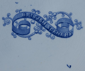 British Scenery soup plate backstamp